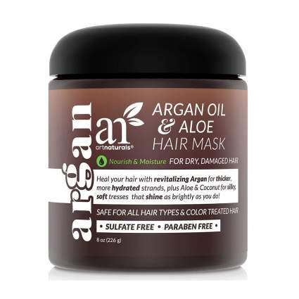 Dark brown Artnaturals hair mask jar