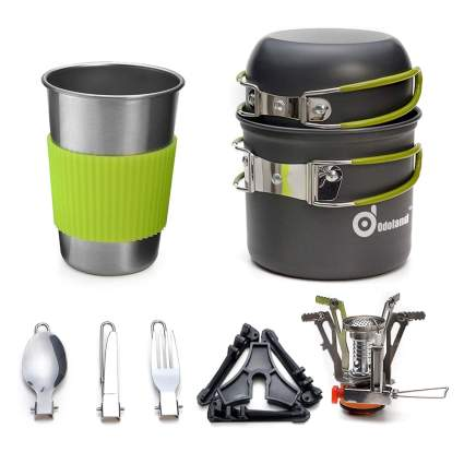 backpacking cookware with mini stove