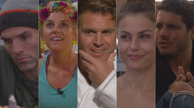 The final five in the Big Brother 22 house: Enzo Palumbo, Nicole Franzel, Memphis Garrett, Christmas Abbott, and Cody Calafiore.