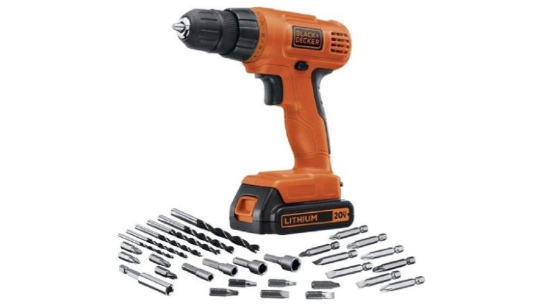 Black+Decker 20V MAX Cordless Drill with 30-Piece Accessory Kit
