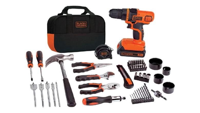 Black+Decker 20V MAX Cordless Drill and Home Tool Kit
