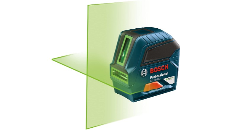 Bosch 75' Green-Beam Self-Leveling Cross-Line Laser Measure