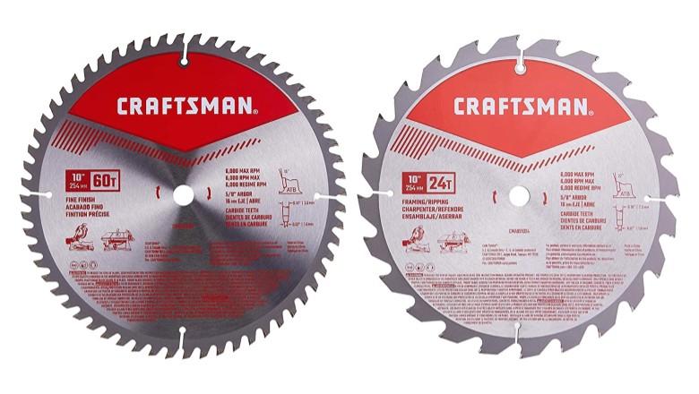 Craftsman 10-Inch Miter Saw Blade Combo