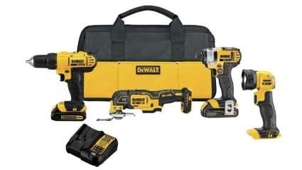 DeWalt 20V MAX 4-Tool Cordless Drill Combo Kit