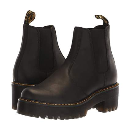 dr martens chunky black boots