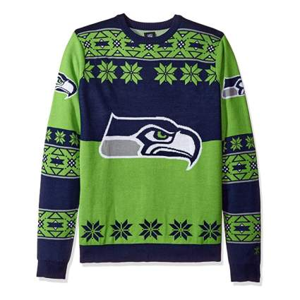 FOCO NFL Big Logo Ugly Sweater