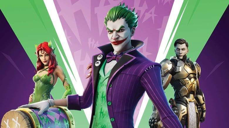 fortnite the joker poison ivy variant styles