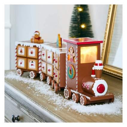 gingerbread train advent calendar