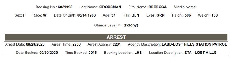 grossman arrest