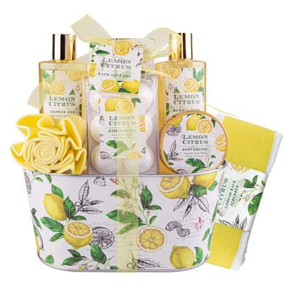 lemon citrus bath gift set