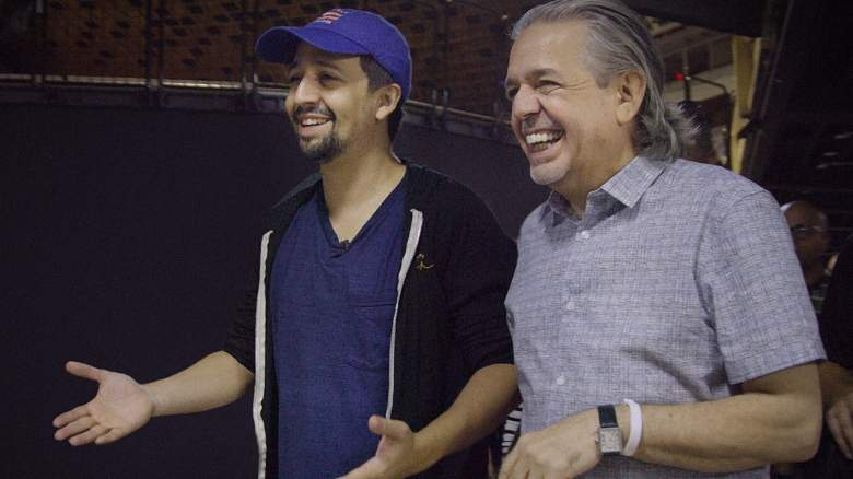 Lin-Manuel Miranda and his father, Luis A. Miranda Jr. in the HBO documentary 'Siempre, Luis'