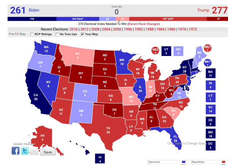 what are the current presidential election polls