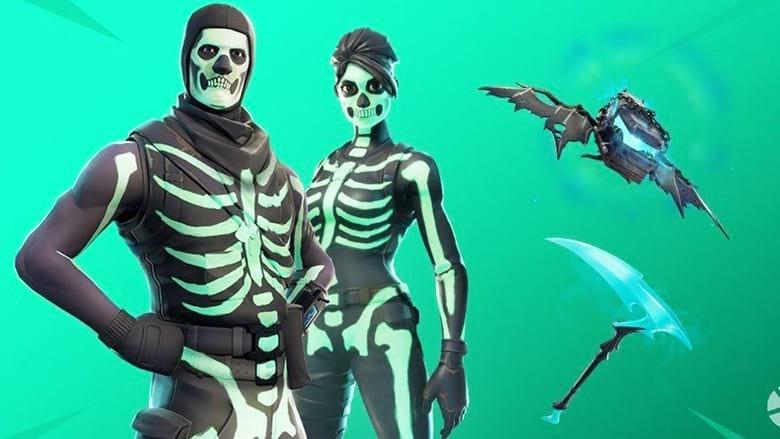 neon skull troopers fortnite