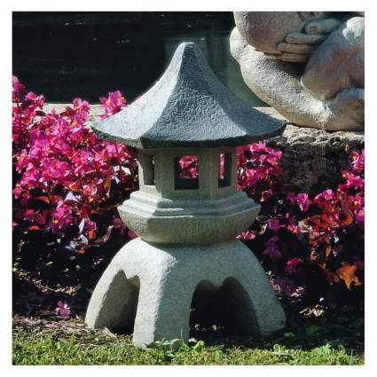 pagoda lantern yard sculpture