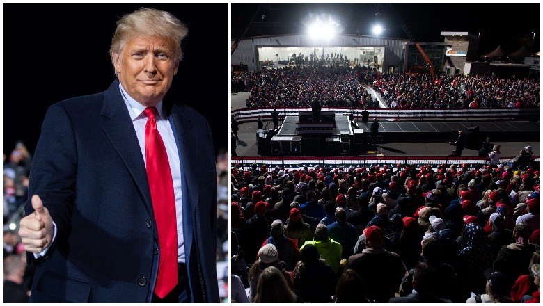 Trump Johnstown Rally crowd size