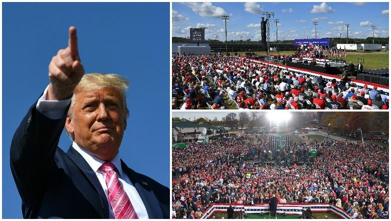Trump's crowd size in Wisconsin, North Carolina, and Ohio