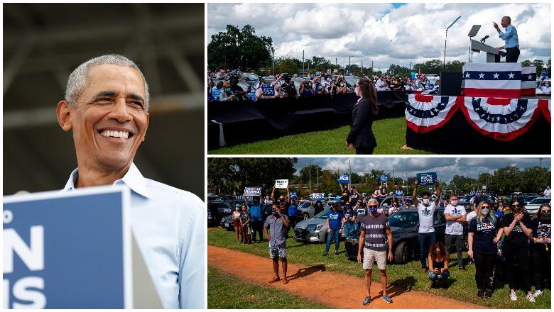 Obama's Orlando Rally for Biden Crowd Size