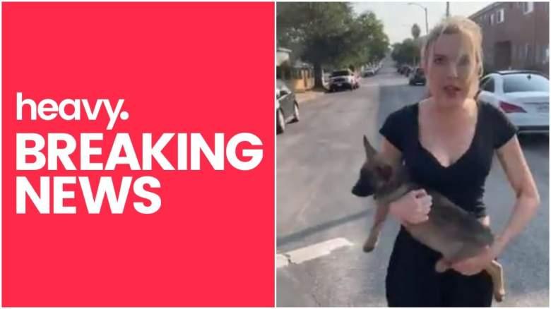 Woman Throws Dog