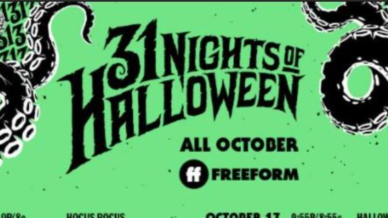 Freeform 31 Nights of Halloween Schedule
