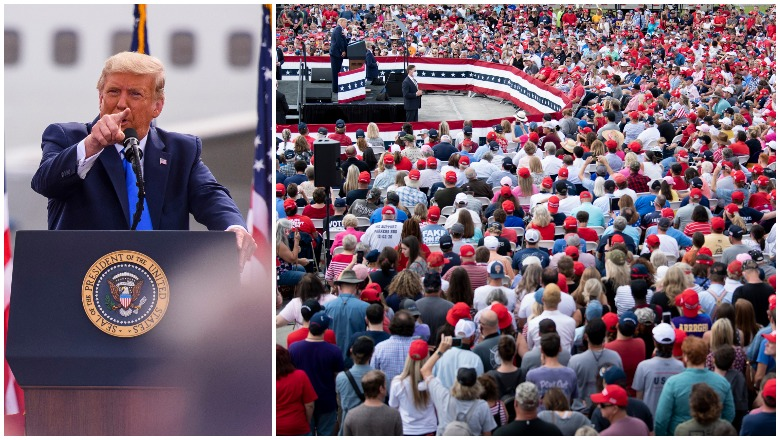 Trump's Greenville, North Carolina Crowd Size