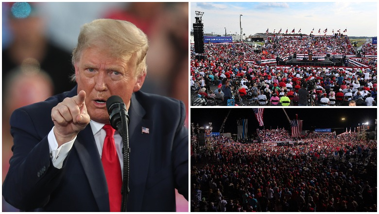 How many attended Trump's Macon and Ocala rallies?