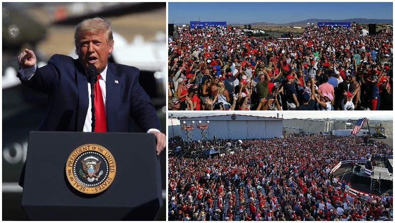 Trump's Tucson & Prescott Rally Crowd Size