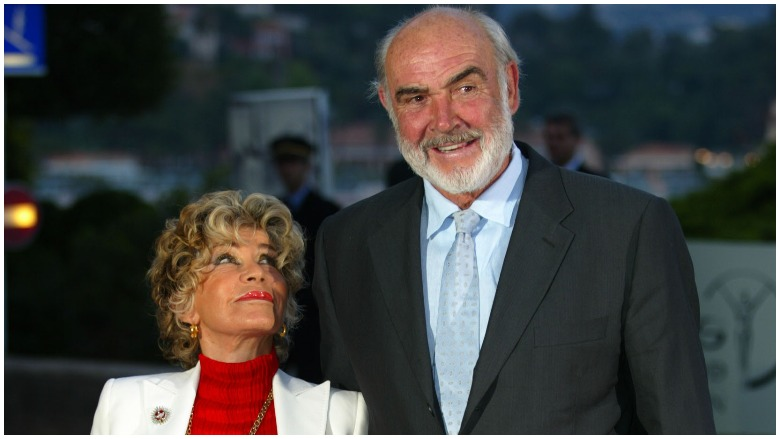 Micheline Roquebrune and Sean Connery