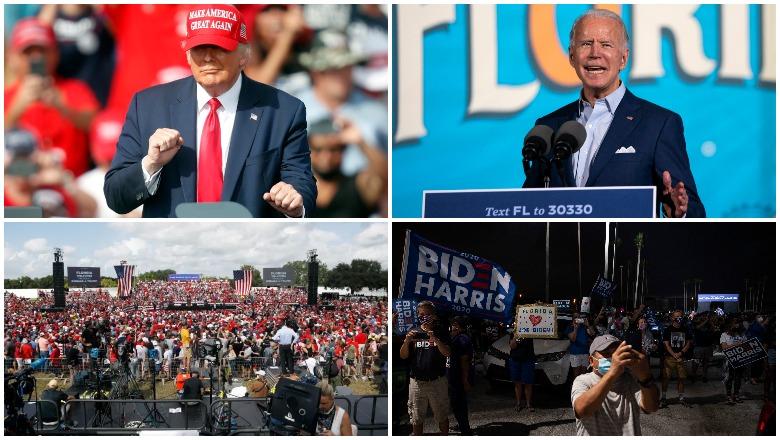 Trump vs Biden Tampa Rally Crowd