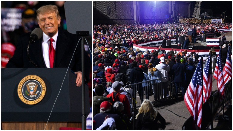 Trump Duluth Rally crowd size