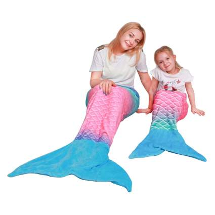 mermaid tail fleece blanket