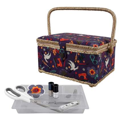 sewing basket and sewing kit