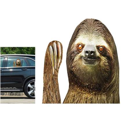sloth car decal