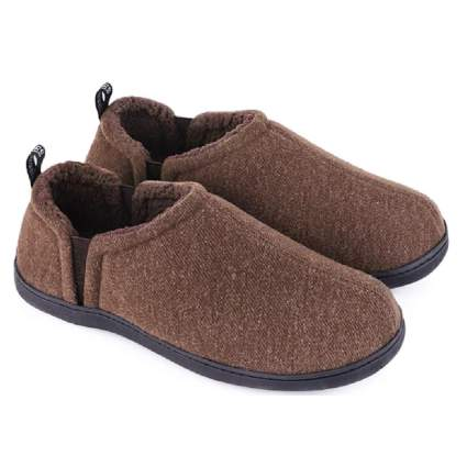 Snug Leaves Men's Fuzzy Wool Felt Memory Foam Slippers
