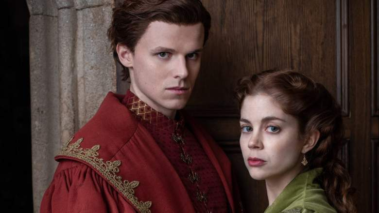 Ruairi O'Connor and Charlotte Hope star as King Henry VIII and Catherine of Aragon on The Spanish Princess