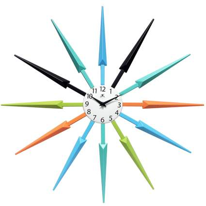 multicolor starburst clock