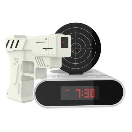 toy gun alarm clock