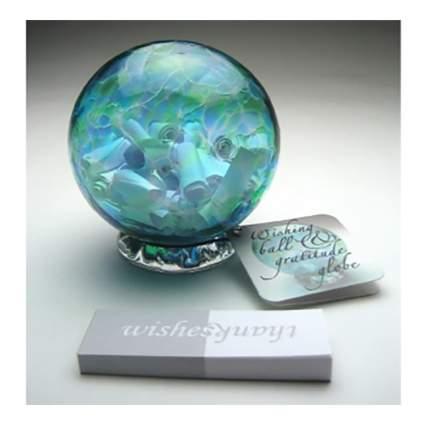 handblown glass wishing ball