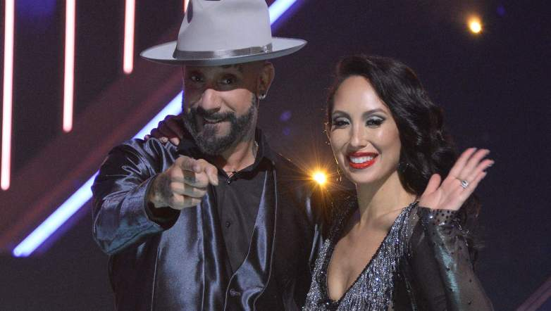AJ McLean and Cheryl Burke on season 29 of Dancing With the Stars.