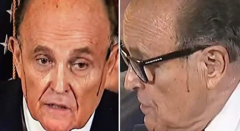 Giuliani sweating blood