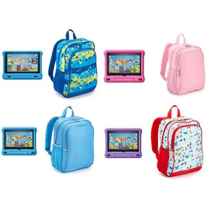Amazon Fire HD Kids Tablets and Kids Backpack Bundle