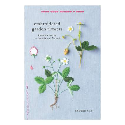 Botanical embroidery book