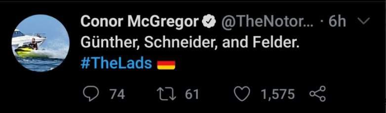 Conor McGregor Paul Felder