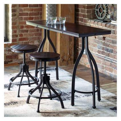 counter height table and bar stools