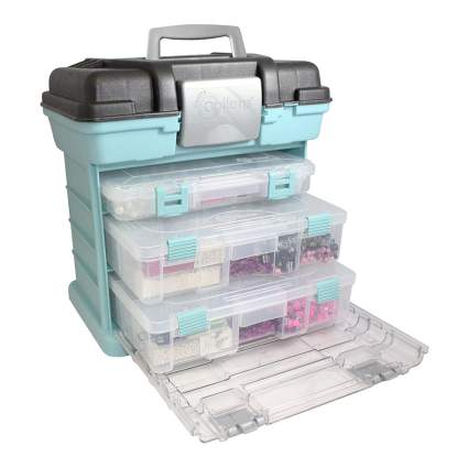 Craft storage train case