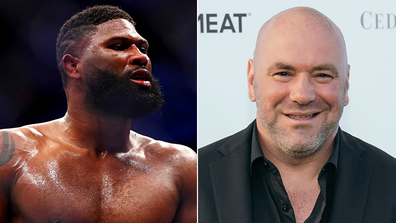 Curtis Blaydes left, Dana White right