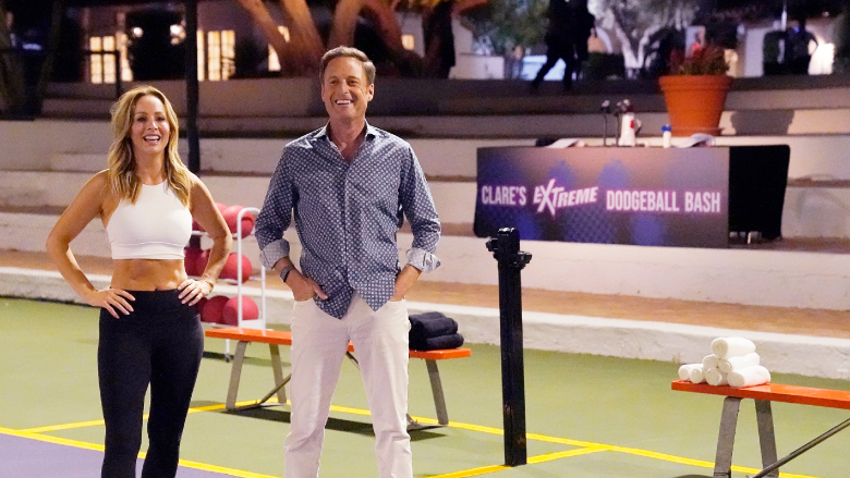 Chris Harrison on the strip dodgeball date