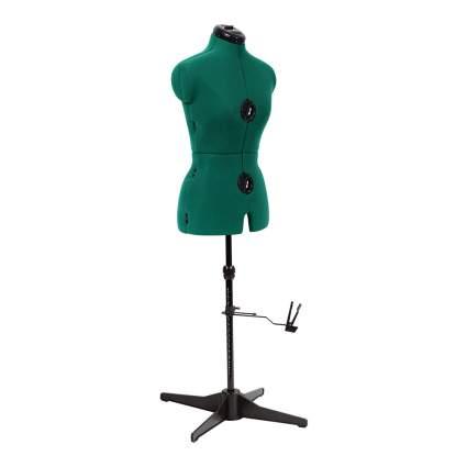 emerald green dress form