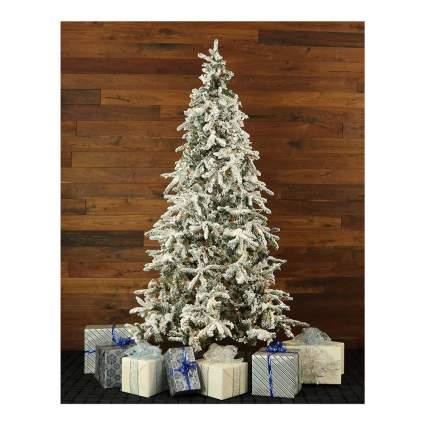 Mountain pine flocked Christmas tree