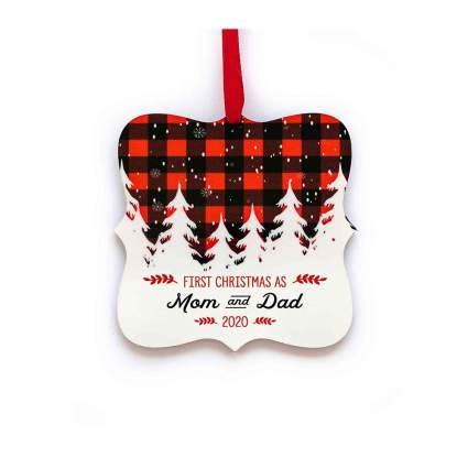 First Christmas Ornamant - Mom and Dad