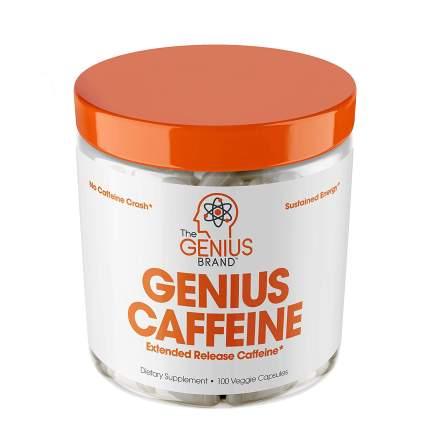 Genius Caffeine Extended Release Microencapsulated Caffeine Pills